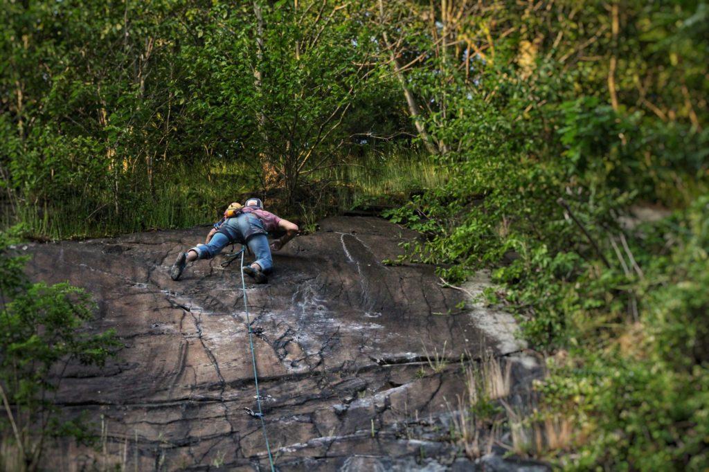 Eric Climbing